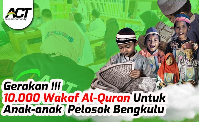 Gerakan 10.000 Al-Quran untuk Anak Pelosok Desa Bengkulu