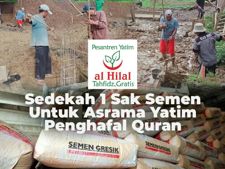 Wakaf Semen Untuk Asrama Penghafal Quran